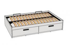 Кровать с декоративной планкой BTD-1Q с рисунком