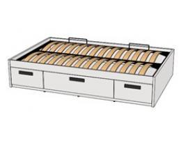 Кровать с декоративной планкой BTD-2Q с рисунком
