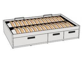 Кровать с декоративной планкой BTD-3Q с рисунком изображение 1