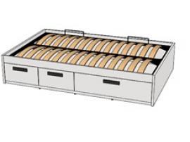 Кровать с декоративной планкой BTD-3Q с рисунком изображение 2