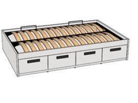 Кровать с декоративной планкой BTD-4Q с рисунком