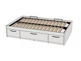 Кровать с подъемным механизмом 3-мя ящиками Teenager BTD2Q