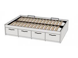 Кровать с подъемным механизмом 4-мя ящиками Teenager BTD4Q