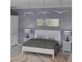 Кровать Рауна 140, 160, 180 (белый воск) изображение 3