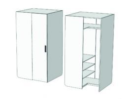 Шкаф-гардероб угловой прикроватный Junior CC-011 с рисунком изображение 2