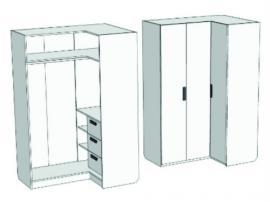 Шкаф-гардероб угловой с 3-мя внутренними ящиками Junior CC-021Q изображение 1