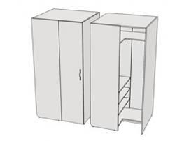 Шкаф угловой прикроватный Teenager CC01 L/R