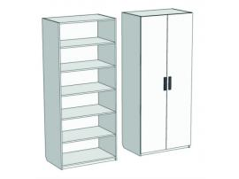 Шкаф 2-дверный с полками Junior CL-0170 с рисунком