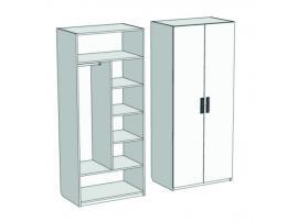Шкаф 2-х дверный комбинированный Junior CL-0370 с рисунком