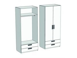 Шкаф 2-х дверный со штангой и 2-мя ящиками Junior CL-0570Q