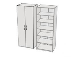 Шкаф 2-х дверный с полками Teenager CL01, CLH01