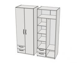 Шкаф с 2-мя ящиками комбинированный Teenager CL11, CLH11 L/R