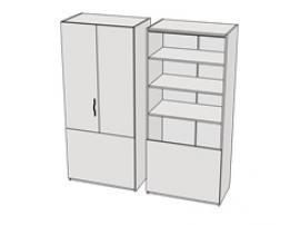 Шкаф прикроватный комбинированный Teenager CL13 L/R