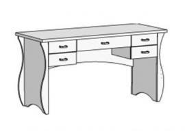 Стол письменный с 5 ящиками Classic CF-02120Q