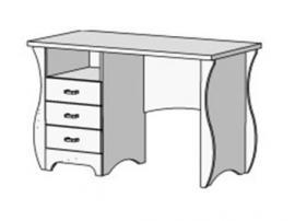Стол письменный с 3 ящиками Classic CF-0335Q изображение 1