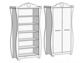Шкаф 2-х дверный с полками Classic CS-0170