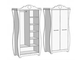 Шкаф 2-х дверный комбинированный Classic CS-0370