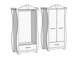 Шкаф с 1 ящиком и штангой Classic CS-0570Q