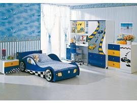 Кровать-машина F1 blue изображение 2