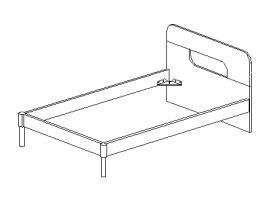Кровать под матрас 120*200 30.394 изображение 1