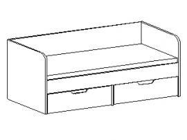 Кровать с ящиками 30.202 изображение 1