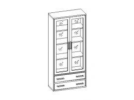 Шкаф для книг с оргстеклом 30.141