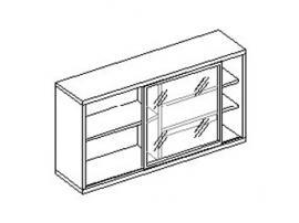 Шкаф настенный с витриной 30.220