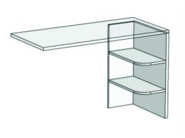Опора с 2 полками для компьютерного стола Junior FH-03 изображение 1