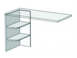 Опора с 2 полками для компьютерного стола Junior FH-03 изображение 2
