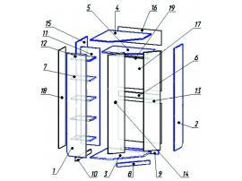 Шкаф угловой Выше радуги изображение 2