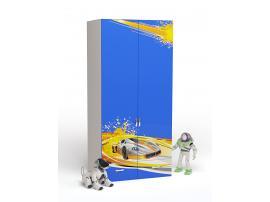 Шкаф 2-х дверный Champion (синяя) изображение 1