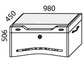 Сундук с мягким сиденьем Н-12 Наутилус изображение 2
