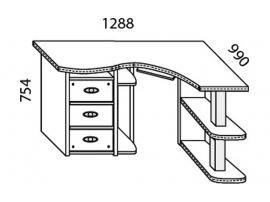 Стол угловой Н-20Л Наутилус изображение 3