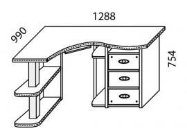 Стол угловой Н-20П Наутилус изображение 3