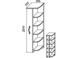 Шкаф-стеллаж угловой Н-6 Наутилус изображение 3