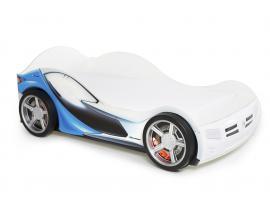 Кровать-машина базовая La-man (голубая)