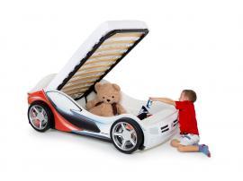 Кровать-машина La-man (красная) изображение 2