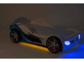 Кровать-машина La-man (голубая) изображение 5