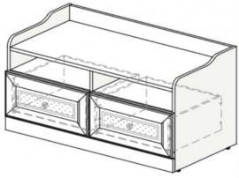 Тумба-ящик для игрушек Белоснежка (без рисунка) 93T050