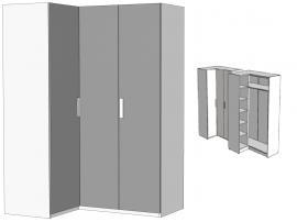 Шкаф угловой Junior JSU41 с рисунком