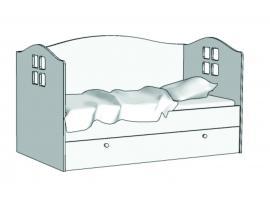 Кровать Домик (с независимым ящиком) KD-16Y с рисунком
