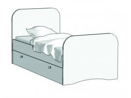 Кровать Стандарт (с независимым ящиком) KE-16Y с рисунком