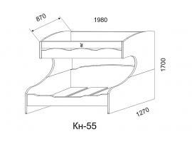 Кровать двухярусная Кн-55 Капитанъ изображение 3