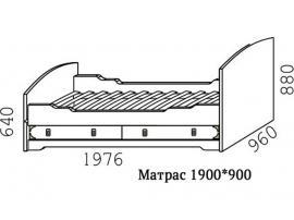 Кровать Кн-25 с ортопедической решеткой Капитанъ изображение 3