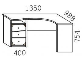 Стол угловой Кн-20Л Капитанъ изображение 4