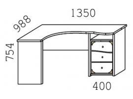 Стол угловой Кн-20П Капитанъ изображение 3
