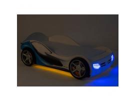 Кровать-машина La-man (голубая) изображение 7