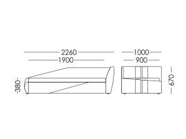 Диван-кровать FORSAGE (Форсаж) красный изображение 9