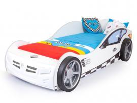 Кровать машина базовая Formula (белая)
