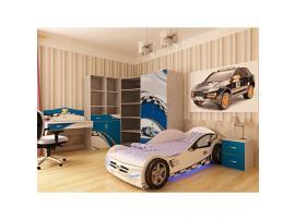 Кровать машина La-Man (синяя) изображение 4